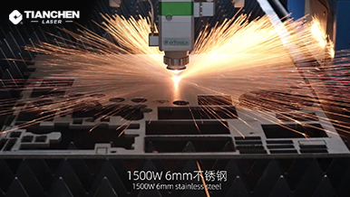 Fiber laser cutter with 6mm stainless steel