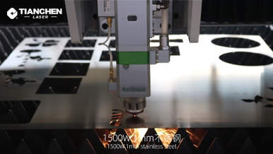 Fiber laser cutter with 1mm stainless steel