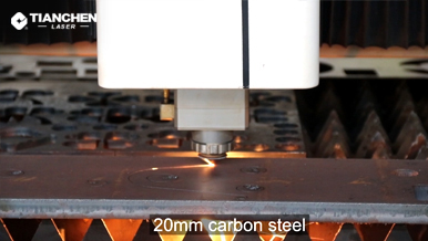 Fiber laser cutter with 20mm carbon steel